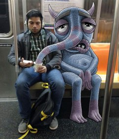 artist-adds-monsters-next-to-strangers-on-the-subway-09