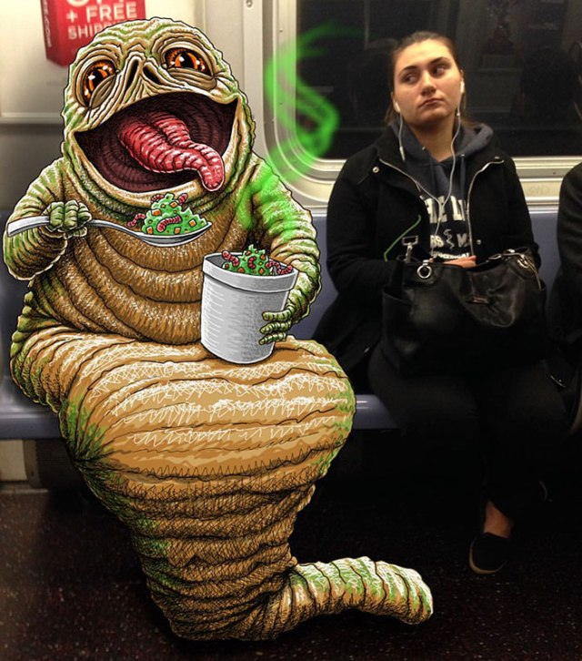 artist-adds-monsters-next-to-strangers-on-the-subway-13