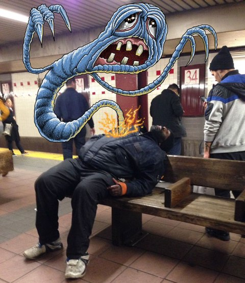 artist-adds-monsters-next-to-strangers-on-the-subway-22
