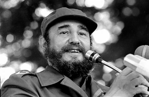 Fidel Castro speaks during visit to Angola