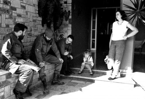 Pineiro, Fidel Castro, Raul Castro and Espin in Havana
