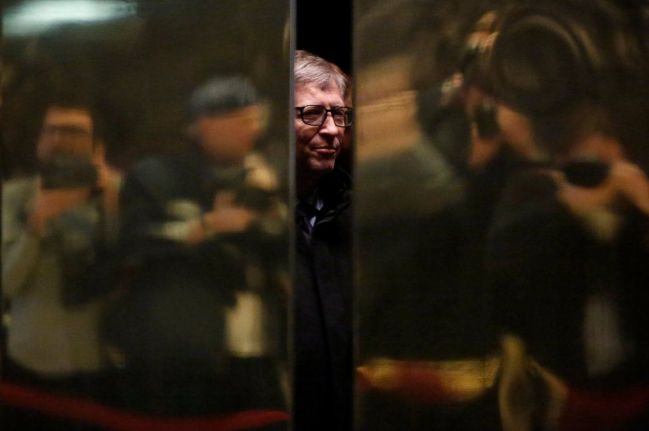 Bill Gates paparazzato alla Trump Tower