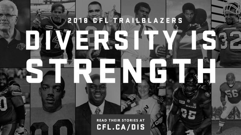 The Diverse Dozen: CFL Diversity is Strength campaign returns for 2018
