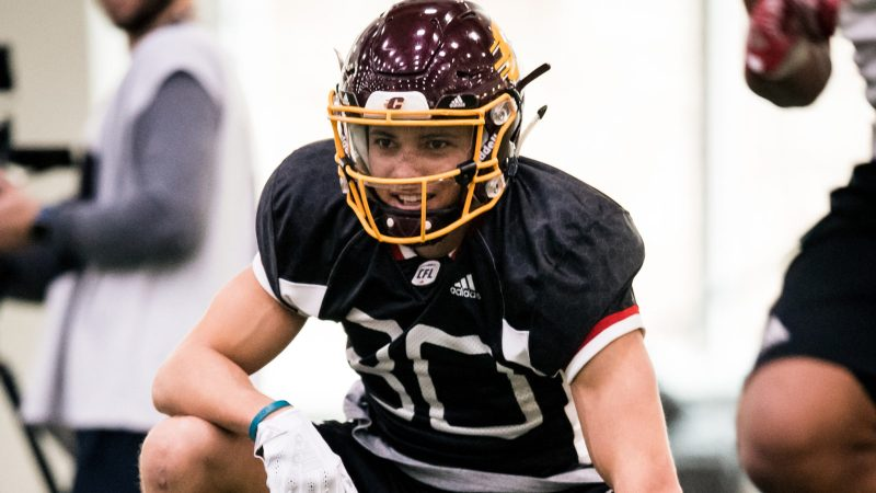 First and gone: CFL 2018 first overall draft pick Mark Chapman is signing with the AAF.