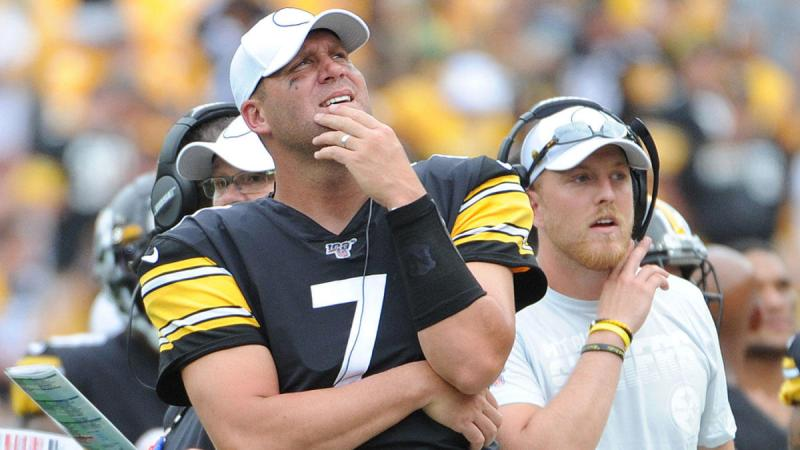 Ben Roethlisberger sidelined for the Steelers