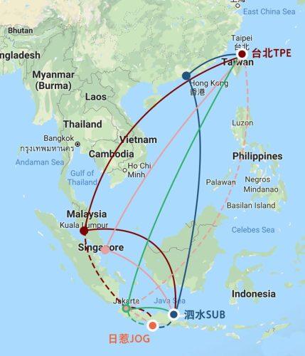 印尼飛行圖介紹