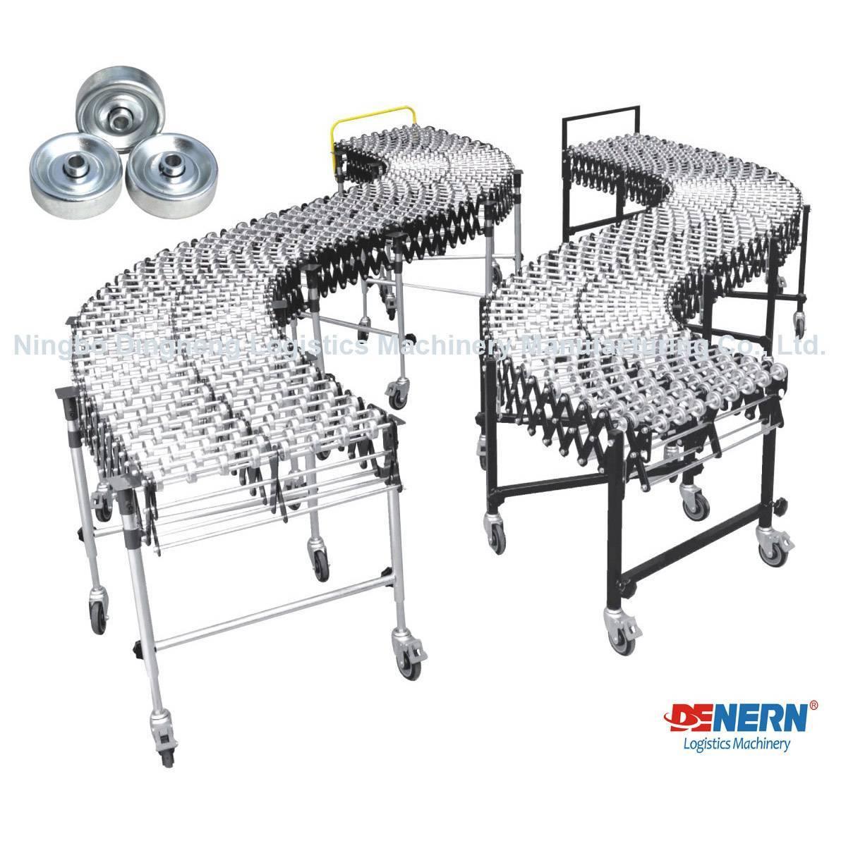 Flexible Metal Skate Wheel Conveyor