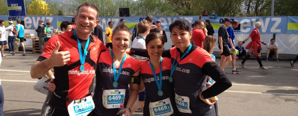 Zurich Marathon NING MUI Team Finish