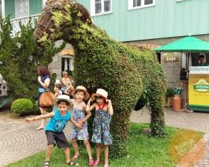 Casa da Ovelha com crianças em Bento Gonçalves