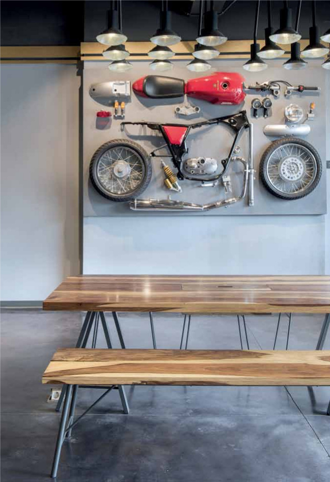 Motorcyclist Living Room