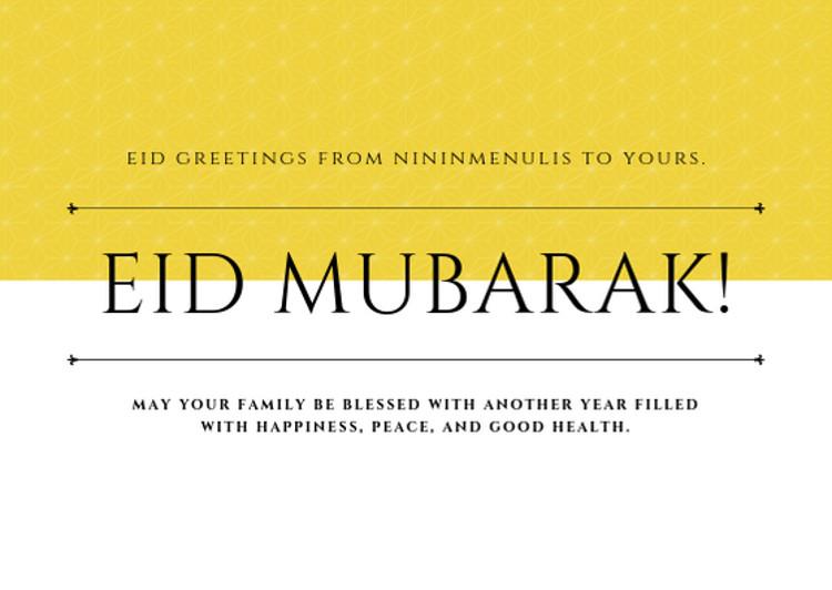Selamat Idul Fitri 1 Syawal 1440 H Nininmenulis