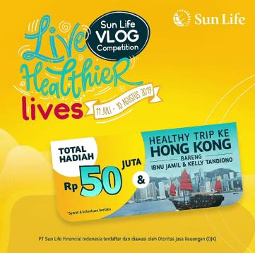 ikuti live healthier lives sun life vlog competition