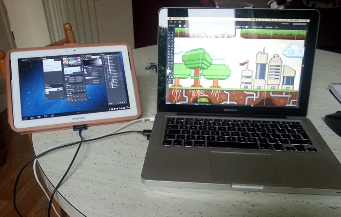 Dual screen Mobile setup image