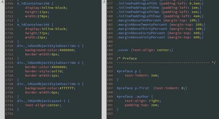 eBook Conversion CSS Comparison