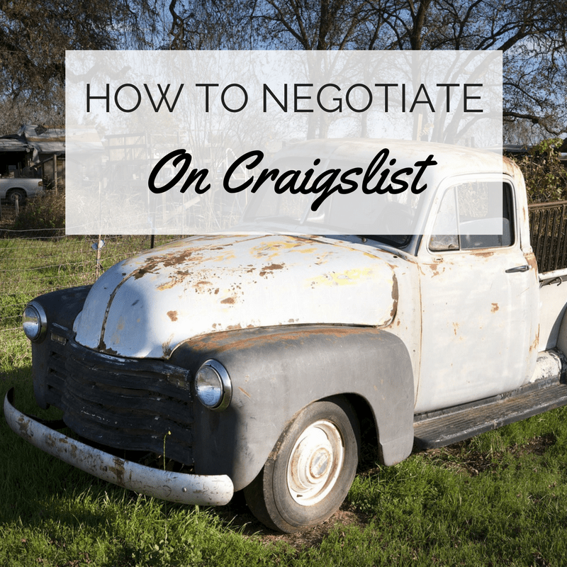 how to negotiate on craigslist