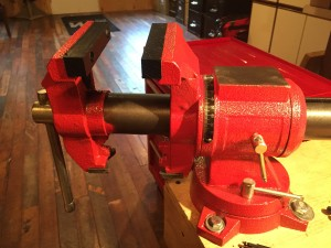 A gunsmithing vise