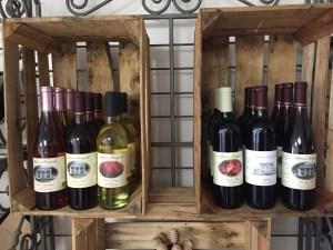 Wine for sale in farm store