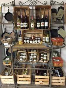 Display of farm goods in farm store
