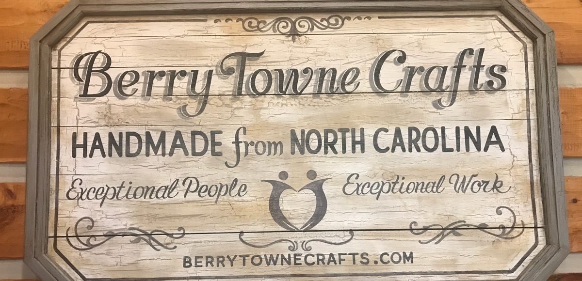 berry town crafts sign, cropped for featured