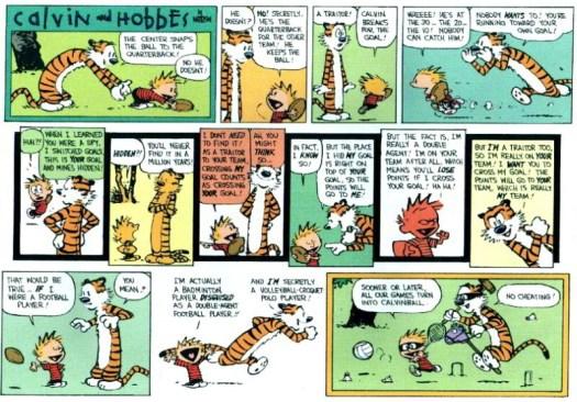 Calvin and Hobbes, calvin ball