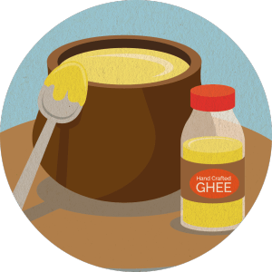 A jar of ghee, or clarified butter