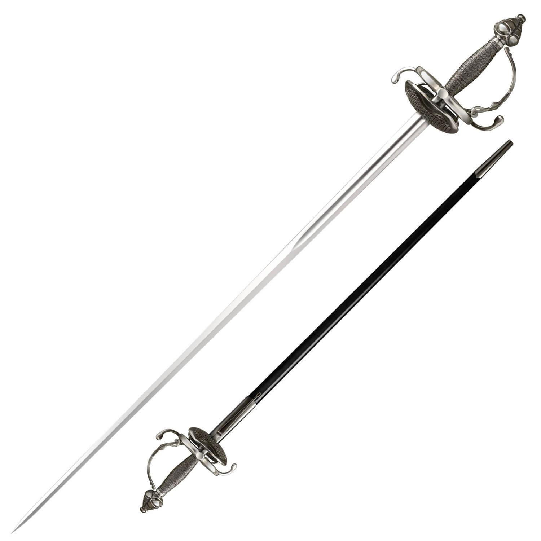 Cold Steel Ribbed Shell Swept Hilt Rapier Sword