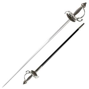 Cold Steel Ribbed Shell Swept Hilt Rapier Sword - 88CHR