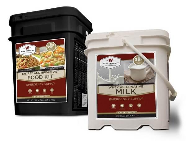 Wise Company 1 Month Gluten-Free Emergency Food Supply w/ Milk - FSB204