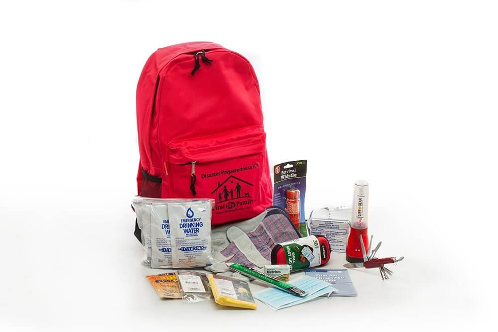 1 Person Deluxe 72 hour Disaster Preparedness Kit by First My Family