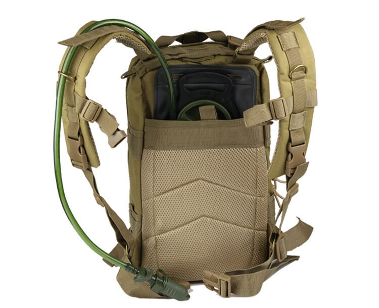 Hydration Bladder loaded to 30L Rucking MOLLE Military Backpack for Day Hikes