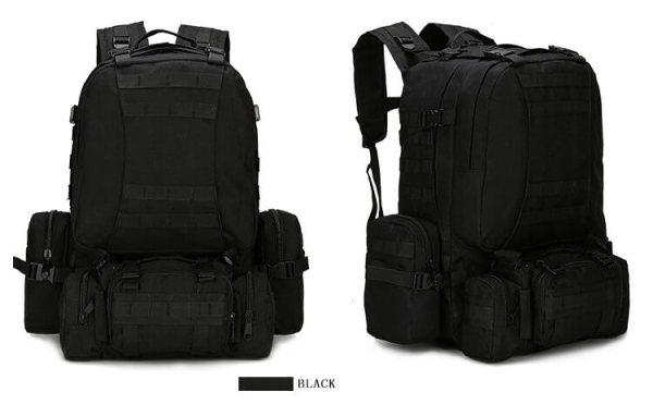 50L Mil-Spec MOLLE Backpack - MB003 - Black