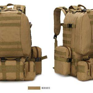 50L Mil-Spec MOLLE Backpack - MB003 - Khaki