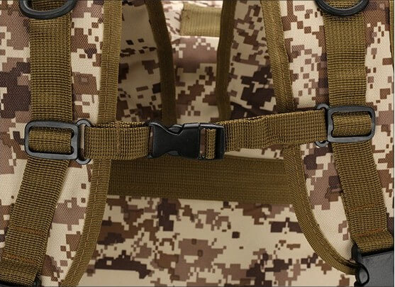 50L Mil-Spec MOLLE Backpack - Chest Strap Detail