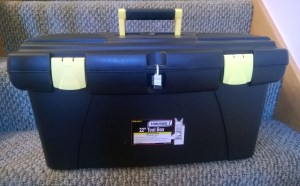 22 inch plastic toolbox