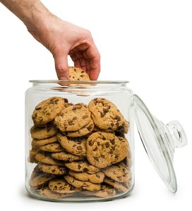 Just because you can reach the cookie jar doesn't make them your cookies.