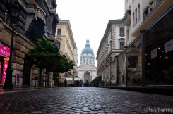 The main pedestrian road to St. Stephan's Basilica