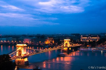 The Iconic Chain Bridge of Budapest, as the Landmark of the city.
