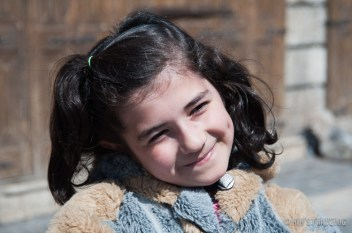 The smile - She smiled shyly, but she is not camera shy