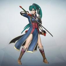 Lyn in ihrem Schwertmeister-Mantel