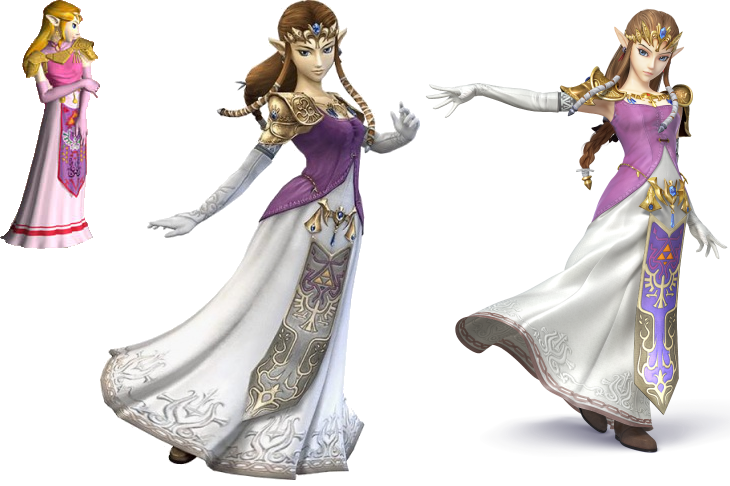 Image A Comparison Of Zelda In The Different Smash Bros