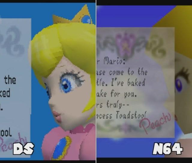 More Comparison Super Mario 64 Super Mario 64 Ds