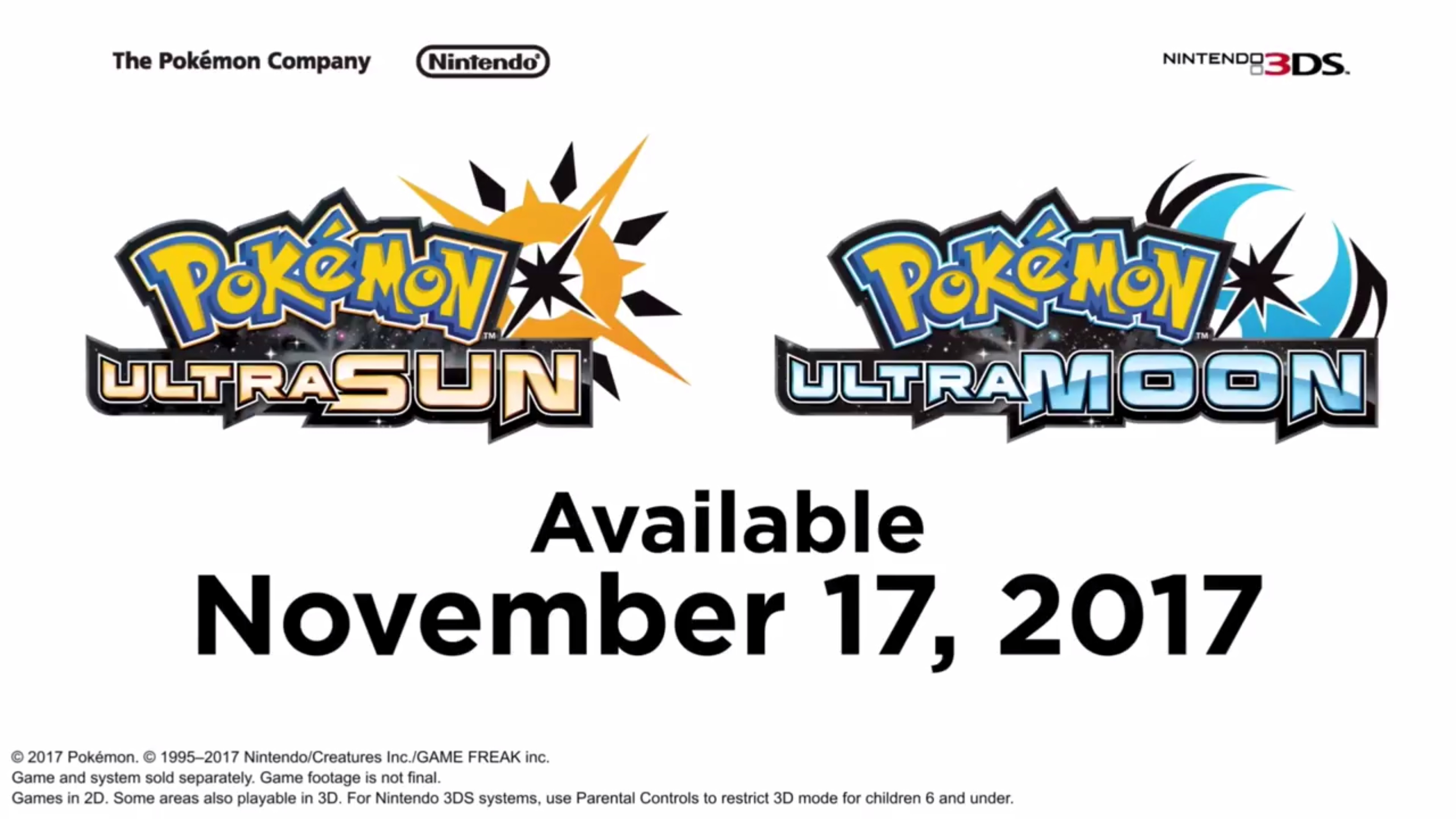 Pokemon Ultra Sun e Pokemon Ultra Moon