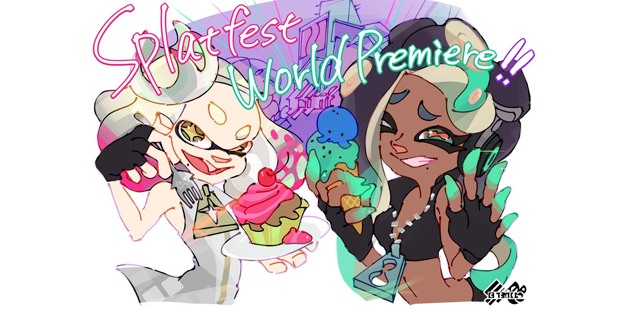 Splatoon 2 Cake Vs Ice Cream Splatfest Art Nintendo