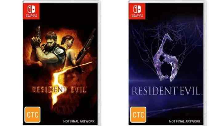 RESIDENT EVIL 5 AND RESIDENT EVIL 6 APPEAR TO BE RECEIVING SEPARATE SWITCH PHYSICAL RELEASES IN AUSTRALIA 1