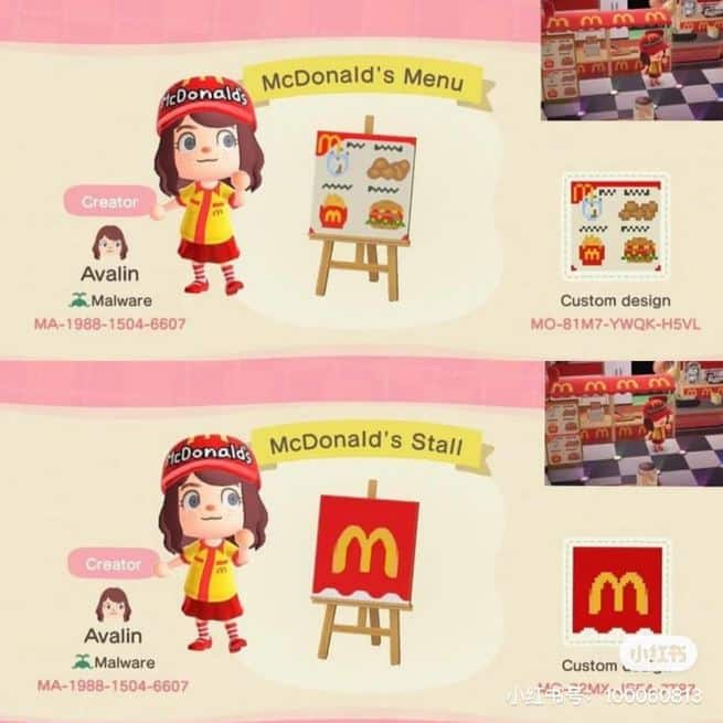 Build Your Own McDonald's Restaurant In Animal Crossing: New Horizons 5
