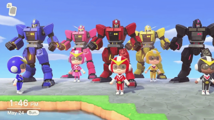 The Famous Mighty Morphin' Power Rangers Intro Is Recreated In Animal Crossing: New Horizons 1