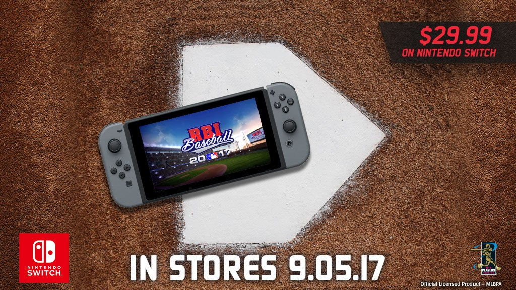 RBI Baseball 17 Hitting Nintendo Switch This September