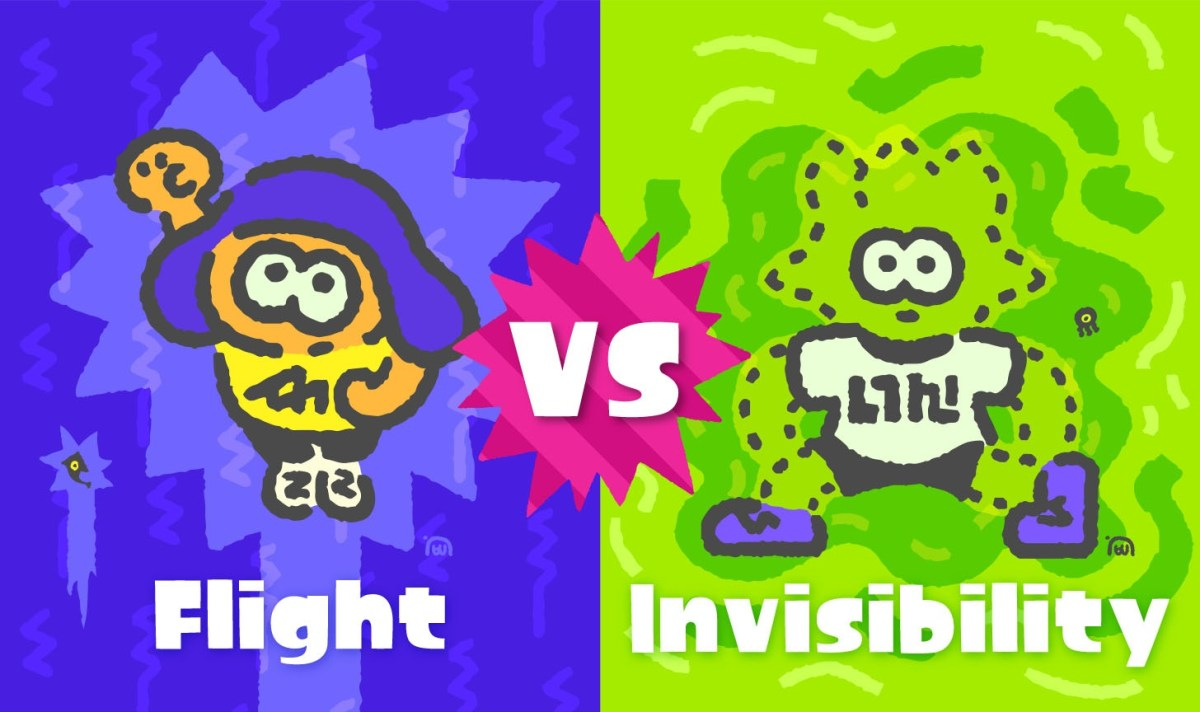 The Next Splatfest Is Flight Vs Invisibility