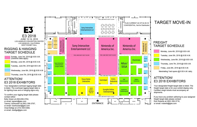 Here S The Final E3 2018 Floor Plans Nintendosoup