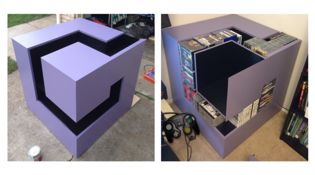 Fan Art This Gamecube Logo Doubles Up As An Awesome Storage Shelf Nintendosoup